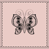 Lace butterfly Stock Images