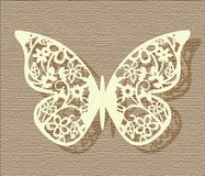 Lace Butterfly on texture background Royalty Free Stock Photography