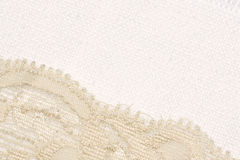 Lace and canvas. Backgroun close-up Stock Photo