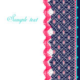 Lace card Royalty Free Stock Photo