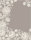 Lace Card. Frame. Beige Backgrounds Stock Photography