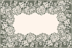 Lace Card. Frame. Floral Pattern. Royalty Free Stock Photography