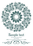 Lace circle card vector illustration