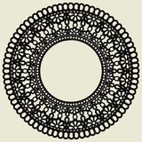 Lace Circle Isolated On White Background. The Decoration Is Suitable For Laser Cutting Of Paper, Wood, Cardboard Or Metal Stock Photography