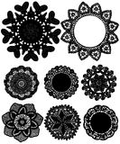 Lace circles. Different patterns of lace made in the shape of a circle. the image will adorn any interior, will give your home the atmosphere of a room or Royalty Free Stock Photos