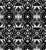 Lace with circles and flowers Royalty Free Stock Photo
