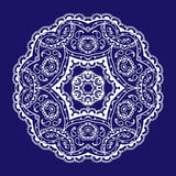 Lace circular pattern. Vector image Stock Images