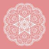 Lace circular pattern. Vector image Royalty Free Stock Photos