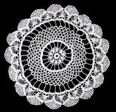 Lace. Close up of handmade lace table cover Stock Photos