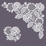 Lace Corner. Clip Art. Royalty Free Stock Photography