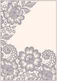 Lace. Corners. Card. Stock Images