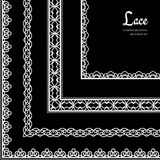 Lace corners set Royalty Free Stock Photos