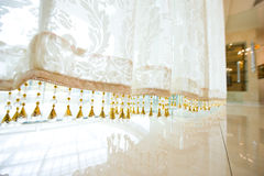 Lace curtain Stock Photography