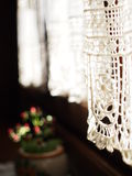 Lace curtain detail Royalty Free Stock Images
