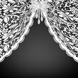 Lace curtains and bow Royalty Free Stock Photos