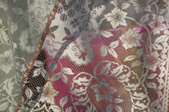 Lace curtains. For home decor Royalty Free Stock Images
