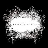 Lace Curves Banner. Lace Curves Black And White Banner stock illustration