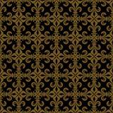 Lace-de-Luce (Lace of Lilies), Richbronze seamless pattern Stock Image