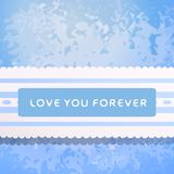 Lace with declaration in eternal love. Royalty Free Stock Photography