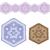 Lace Design set1 vector illustration