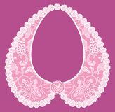 Lace detachable collar-necklace. Stock Photo