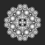 Lace doilies. Classical circle white flora lace doilies template Stock Photos
