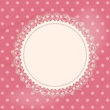 Lace doily background Stock Photography