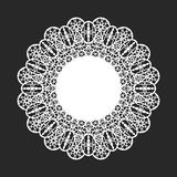Lace doily. Classical white round lace doily stock illustration