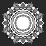 Lace doily. Classical white round lace doily royalty free illustration