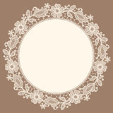 Lace Doily. Floral Pattern. Freehand Drawing Royalty Free Stock Photo