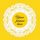Lace Doily Frame Stock Image