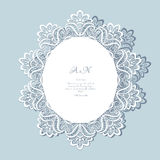 Lace doily, greeting card or wedding invitation Stock Images