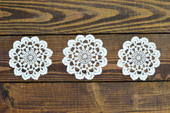 Free Lace Doily On Wooden Background Royalty Free Stock Photos - 96469168