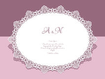 Lace doily. Paper lace doily, greeting card, save the date or wedding invitation template vector illustration