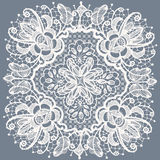 Lace doily patterns.With elements abstract flowers Royalty Free Stock Images