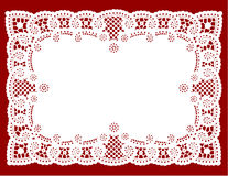 Lace Doily Place Mat Stock Photo