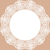 Lace doily. Vintage card with lace doily vector illustration