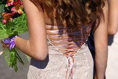 Lace on dress Stock Images