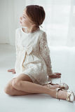Lace dress Stock Image