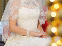 Lace Dress and Veil Stock Photography