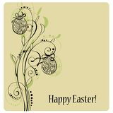 Lace Easter eggs card Royalty Free Stock Photo