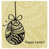 Lace Easter eggs card Stock Images