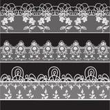 Lace edge vector thread knitting Royalty Free Stock Photos