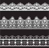 Lace edge vector thread knitting Royalty Free Stock Photography