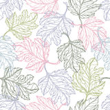 Lace  elegance leaves seamless pattern Stock Photo