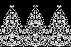 Lace  elegant  seamless  baroque  pattern  vector.  Embroidery  designLace  elegant  seamless  baroque  pattern  vector.  Embroide Royalty Free Stock Photos