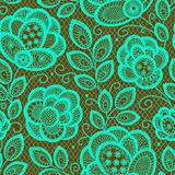Lace Emerald Seamless Pattern. Royalty Free Stock Image
