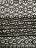 Lace fabric. Black lace fabric suitable as background Royalty Free Stock Image