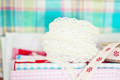 Lace and fabric Royalty Free Stock Photo