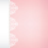 lace fabric background with pearls Stock Photography